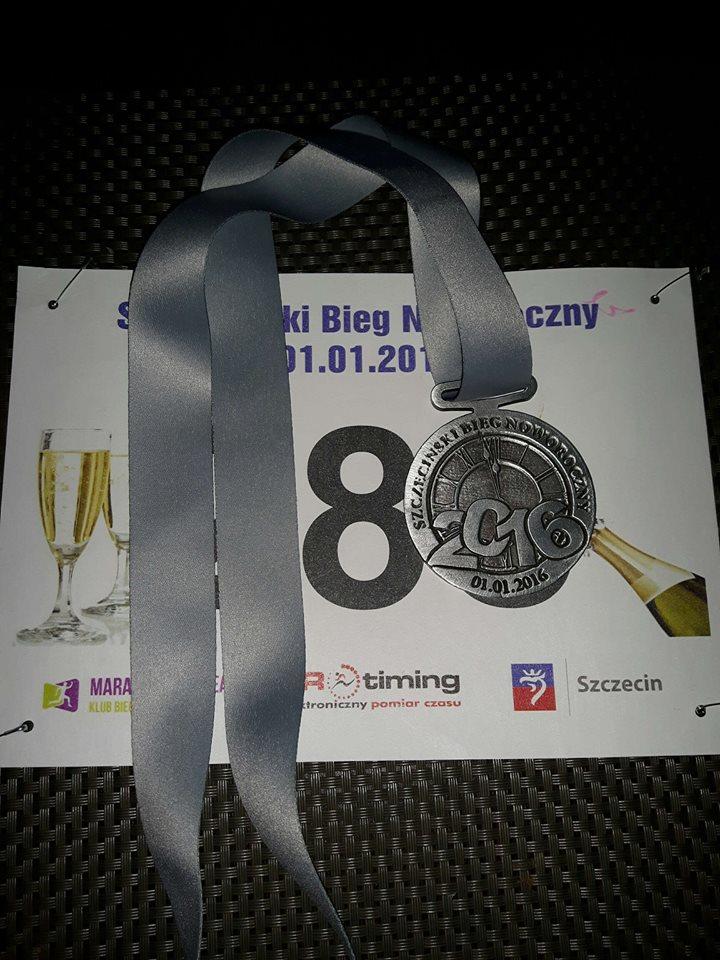 medal szczeciński bieg noworoczny
